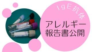 IgE抗体・食物アレルギーのクラス分け・娘の検査報告書を公開!