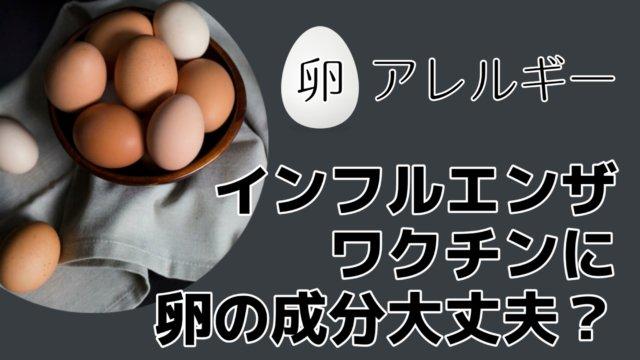 卵アレルギーもちのインフルエンザ予防接種・ワクチンに卵の成分が!大丈夫?