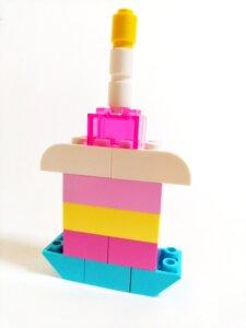 レゴアイデアパーツのケーキ